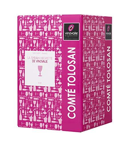 Cubi Vin Rosé 10 L - BIB Vin Rosé Négrette-Syrah 10 litres - IGP Comté Tolosan