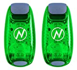Apace Vision LED Safety Light (2 Pack) with Bonus Items - Clip On Strobe/Running Lights for Runners, Dogs, Bikes, Walking and More, Green