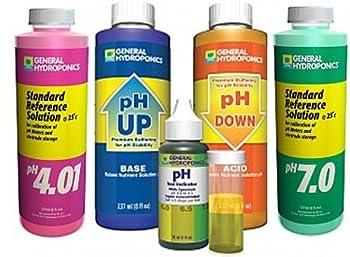General Hydroponics pH 7.0 Calibration Solution 8 oz pH 4.01 Calibration Solution 8 oz pH Control Kit