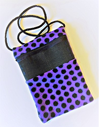 Purple Polka-Dot Sugar Glider Bonding Pouch - Large