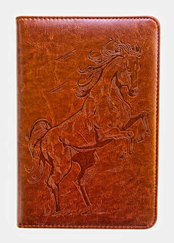 Horse Journal by SohoSpark, Writing Journal, Personal Diary, Lined Journal, Travel, 6x8.75 Notebook, Writers Notebook, Faux Leather, Refillable, Fountain Pen Safe, Lay Flat Binding