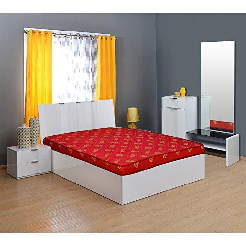 @home By Nilkamal Value+ 4-inch Double Size Foam Mattress (Maroon, 78x48x4)