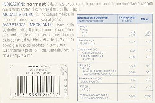 Epitech Group Normast Integratore Alimentare per il Nervo Periferico, 600 mg - 20 Compresse