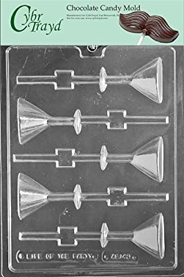 Cybrtrayd Life of the Party AO143 Martini Glass Lolly All Occasions Chocolate Candy Mold in Sealed Protective Poly Bag Imprinted with Copyrighted Cybrtrayd Molding Instructions