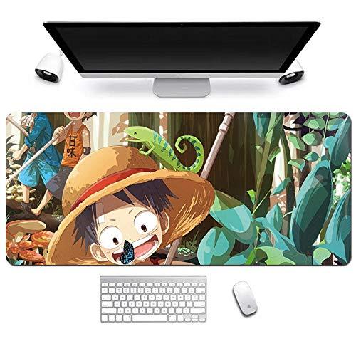 Anime Grande Alfombrilla de Ratón Gaming Mouse Pad Luffy One Piece Gran Teclado extendido tapete de Ratones Monkey 800X300mm Gran tamaño Mousepad for PC de Escritorio del Ordenador-D_800*300 * 3MM