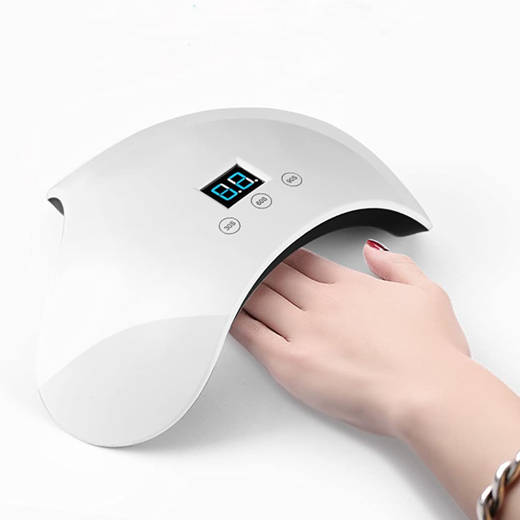 忌み嫌う日焼け均等にアボディネイルランプUV LED 24Wスマイルネイルドライヤー、ネイルポリッシュ&ジェル、爪&爪のジェル硬化ランプ