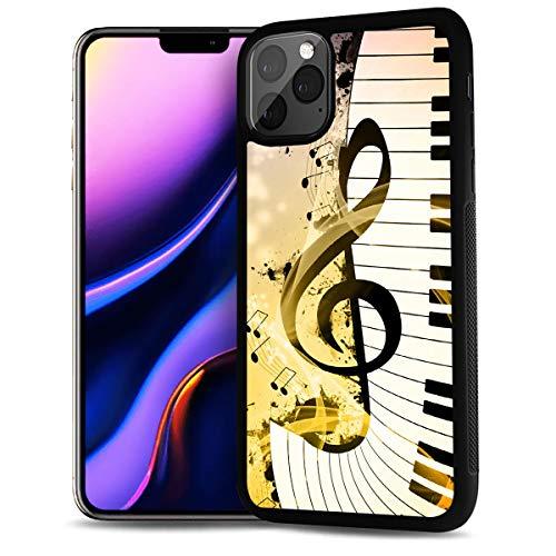 HOT12221 Schutzhülle für iPhone 11 Pro, strapazierfähig, weiche Rückseite, Motiv: Musikzeichen