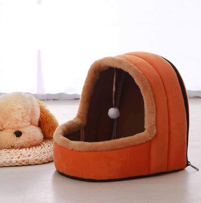 Pet Nest Four Seasons Universal Pet Mattress Kennel Cat Litter Play Sleep One Large 43  39  39CM,orange,29  27  28CM