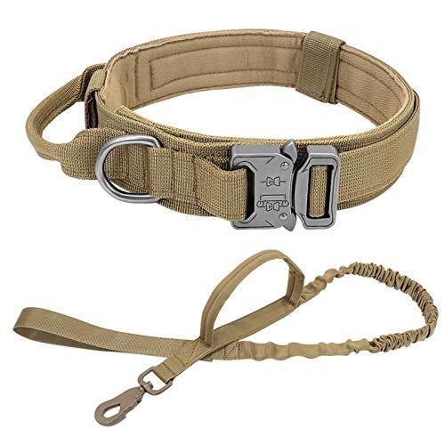 N-brand Collar de perro táctico duradero, nailon ajustable, correa de perro militar, para perros medianos y grandes K9 pastor alemán, entrenamiento de caza