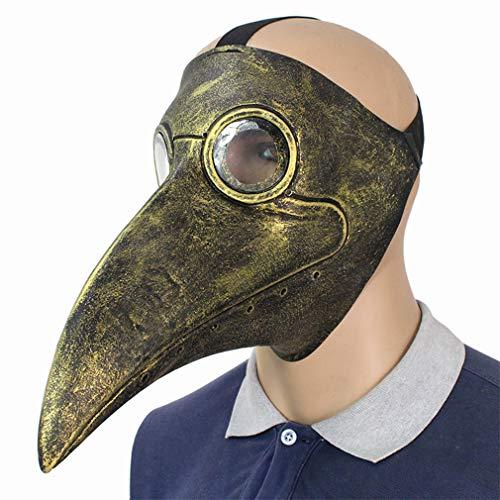 DUBAOBAO Halloween punk artsen gemaakt lange vogel snavel bal masker cosplay rekwisieten niet-giftige natuurlijke omgeving comfortabele, ademende niet-corrosieve latex