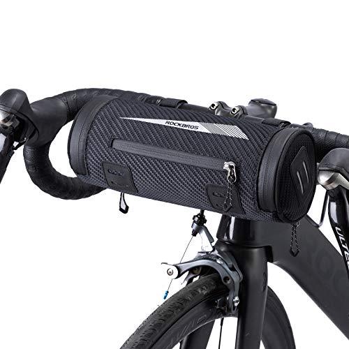 ROCKBROS Borsa Bici da Manubrio Borsa Anteriore per Bicicletta MTB Impermeabile Riflettente Portatile con Tracolla Multifunzionale Grande capacità 2L