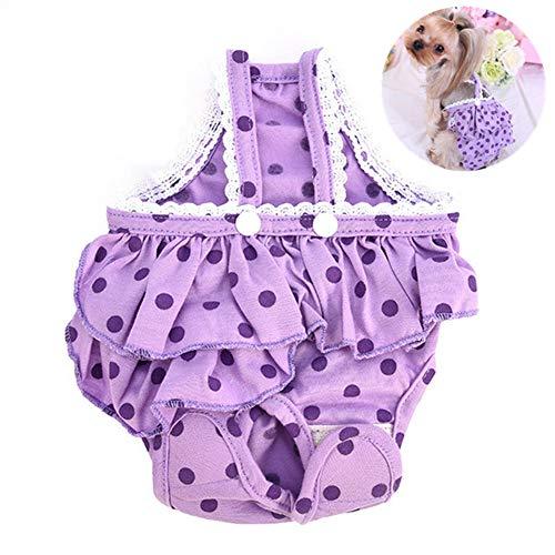 Rysmliuhan Shop Hundewindeln Für Hündinnen Inkontinenz Läufigkeitshose Für Hündinnen Waschbare Hundewindeln Hund Windeln weiblich klein Hunde Periode Hosen Purple,m