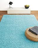 Alfombra Moderna Colors Azul Turquesa 200x290cm - Alfombra Shaggy al Precio súper económico