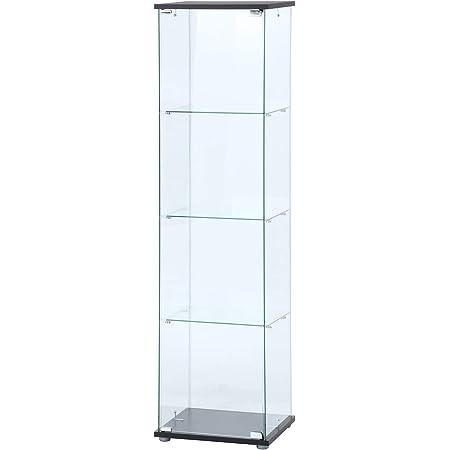 不二貿易 コレクションケース フィギュアケース 4段 高さ162cm クリア 全面ガラス 強化ガラス ディスプレイ 98880