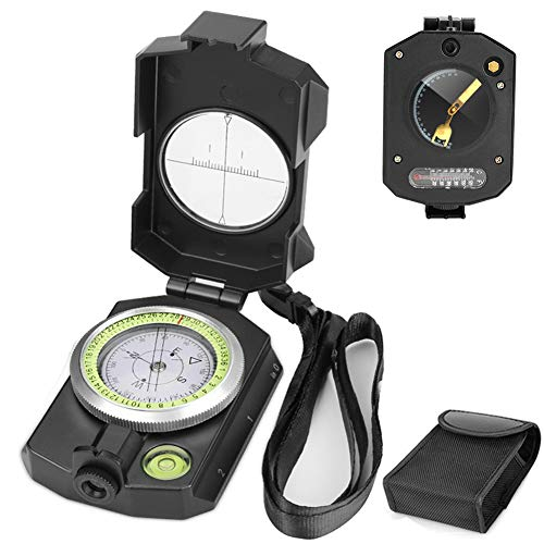 Achort Militär Marschkompass, Professioneller Taschenkompass Peilkompass Kompass Compass mit Tragschlaufe für Jagd Wandern und Aktivitäten Camping im Freien, Wasserfest und Stoßfest