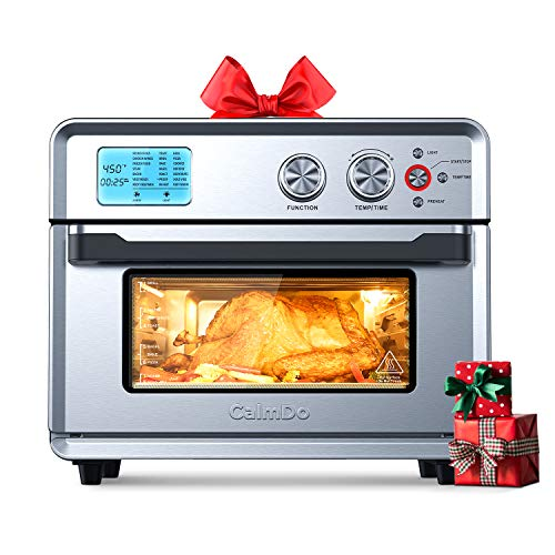 CalmDo Air Fryer Toaster Oven, 26.3 QT Convection Toaster...