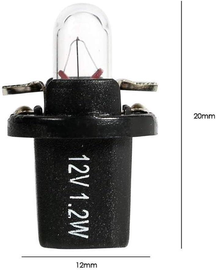 Colorful Linght Medidor de 5 x T5 B8.5D B8.4D 12V 24V 1.2W bulbos de hal/ógeno coche de la luz for el autom/óvil interior del tablero de instrumentos instrumento de iluminaci/ón de luz de l/ámpara