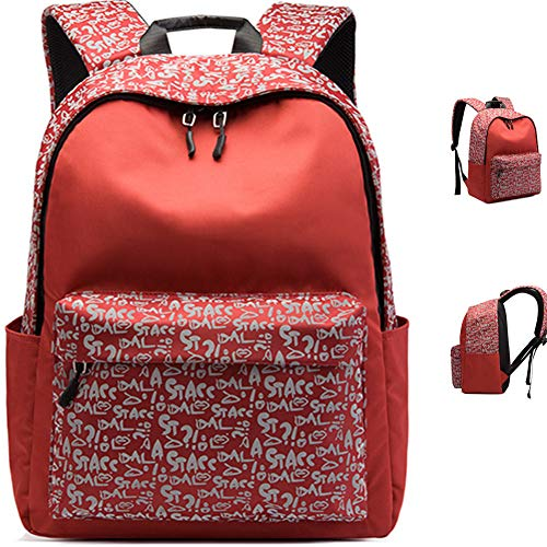 TOOSD School Backpack 15.6 Inch for Junior And Senior School Students Waterproof And Anti-Theft School Bags,A