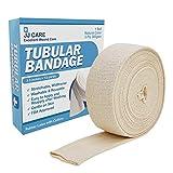 """Premium Elastic Tubular Bandage 3.5"""" x 12 Yards, Cotton Stockinette Size E, Tubular Stockinette for Legs and Knees, 2 Ply Cotton Elastic Bandage Wrap, Tubular Compression Bandage by JJ CARE"""