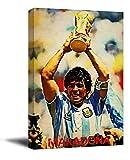 ARYAGO Diego Maradona - Póster deportivo enmarcado (50,8 x 76,2 cm), diseño de jugador de fútbol argentino