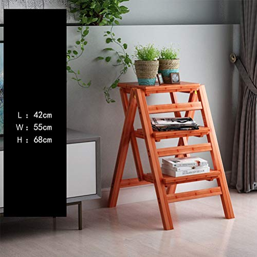 AMBH Multifunctionele ladderkast, keuken, thuis, bibliotheek, zolder, ladder, stoel, bamboeladder, kruk, klap 3.14