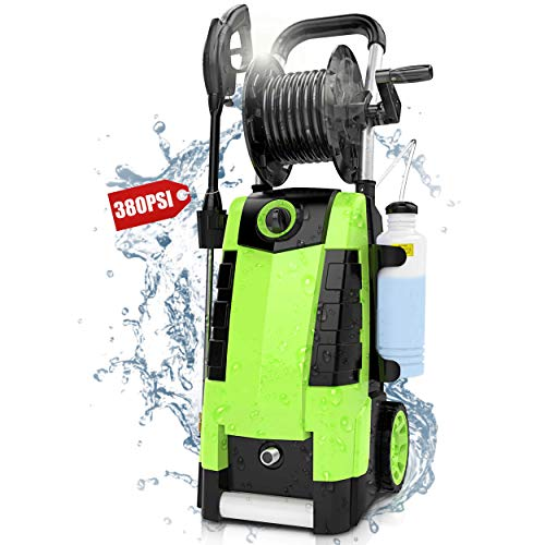 Pressure Washer , TEANDE 3800PSI Pressure Washer, Electric Pressure Washer, Power Washer 2.8GPM High Pressure Power Washer 1800W Machine for Cars Fences Patios Garden Cleaning Hose Reel