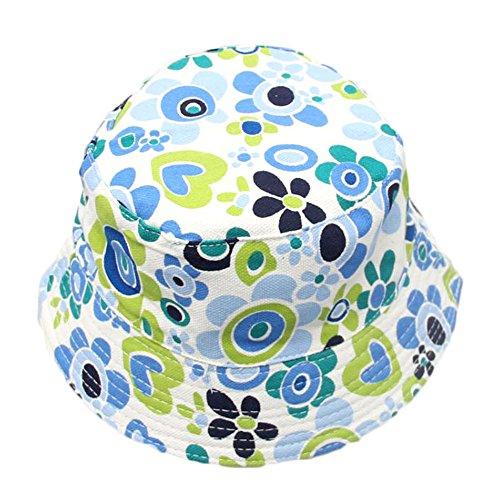 Qinlee Kinder Fischerhüte Bunt Blumenmuster Sonnenhut Strandhut Lässig Hüte Visier Kappe Schutz Kopf Frühling-Sommer Hüte Unisex 2-4 Jahre alt