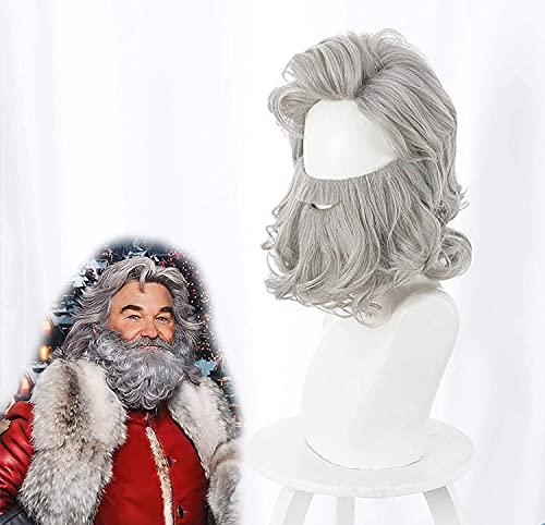 Hombres peluca y barba moda magia Potter Albus Dumbledore Cosplay mago profeta viejo motorista alta calidad largo juego de rol accesorios