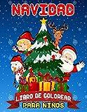 Navidad libro de colorear para niños:: 50 Diseños adorables, con dibujos de página completa de Papá Noel, adornos, trineos, medias, renos, guirnaldas, juguetes y más!