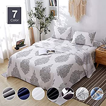 Agedate 3-Piece Brushed Microfiber Bed Sheets Set