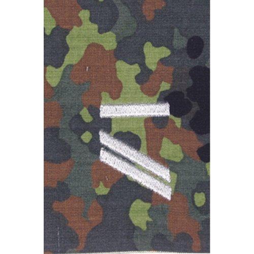 Unbekannt 1 Paar Bundeswehr Rangabzeichen Flecktarn/Silber Rangschlaufe Rangschlaufen Abzeichen Schlaufe Verschiedene Dienstgrade (Obergefreiter UA)