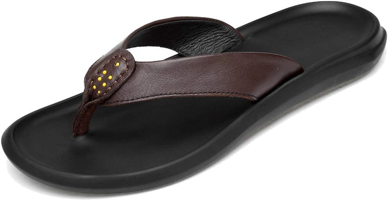 L-X Unisex Sport Flip Flops Sandals Anti Slip Support Outdoor Lightweight Comfortable Leisure Home Bathroom Slippers, Brown 1, 40EU