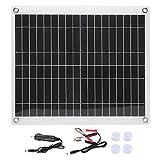 25W Kit de panel solar Tablero de carga de paneles solares...