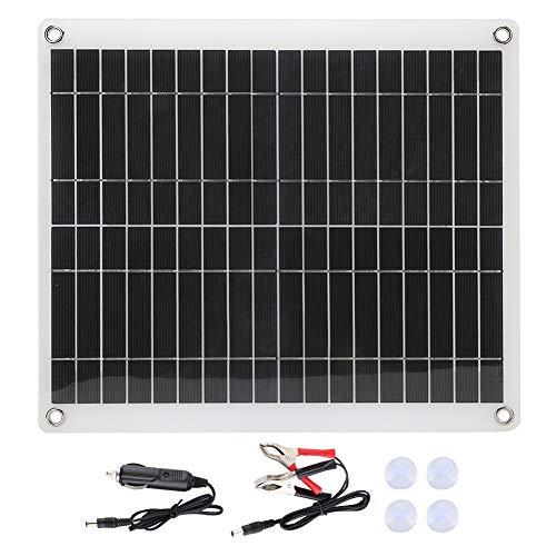 SunshineFace Tablero de carga de los paneles solares policristalinos flexibles portátiles 25W para el viaje al aire libre Camping RV