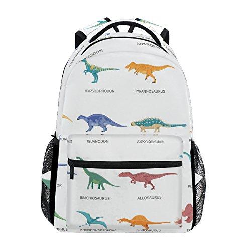 School Backpack Dinosaurs Colored Bookbag for Boys Girls Travel Bag