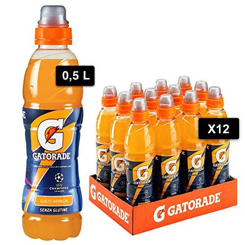 Gatorade, Sport Drink, Bevanda sportiva non Gassata Gusto Arancia, Aiuta il Reintegro dei Sali Minerali Persi, Formato da 12x500 ml