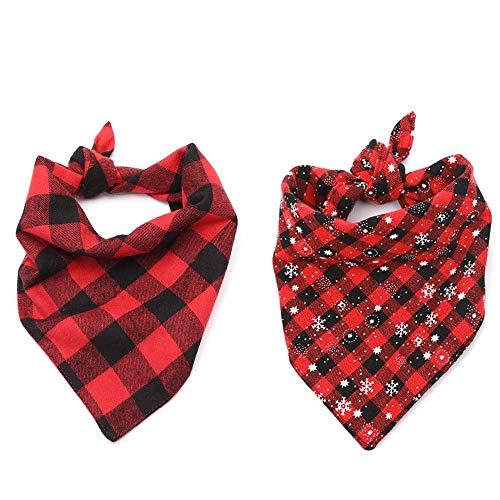 Petsoigné 2Pcs Hundehalstuch Halstücher für Hunde und Katzen Dreieck Halstuch für Klein, Mittlere und Groß Hunde (M)