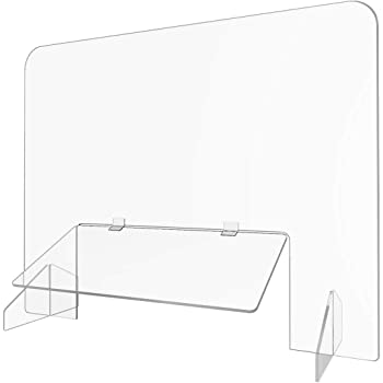 CLEAR ACRYLIC SNEEZE GUARD WITH STABLE FEET GREAT FOR EXTRA PROTECTION