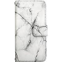 iPhoneXS Max ケース 手帳型 スマホケース nbst001b マーブル 大理石柄 ホワイト ミラータイプ スマホカバー 携帯カバー [ZI:L](ジール) [LL]