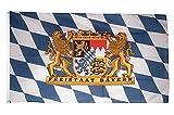 Flaggenfritze Fahne/Flagge Deutschland Bayern Freistaat + gratis Sticker