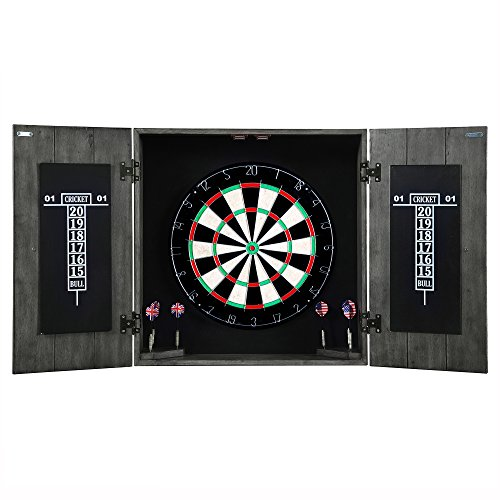 Hathaway Drifter Solid Wood Dartboard Cabinet - Reclaimed Pine with...