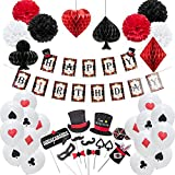 Decoraciones Fiesta 29Pcs Magic Theme Kids Birthday Party Decoration Set Happy Birthday Banner Photobooth Props Poker Latex Balloons Casino Party, China