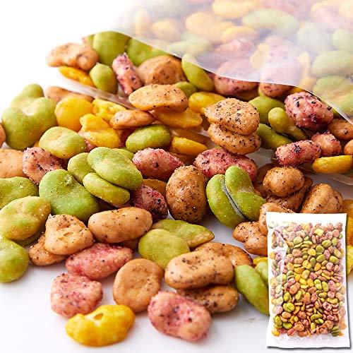 天然生活 そら豆ミックス (300g) 5種類 わさび 梅 枝豆 黒胡椒 カレー 豆菓子 お徳用 おつまみ おやつ スパイシー