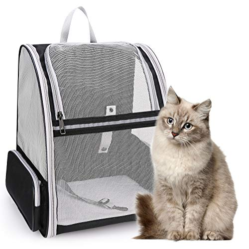 Lollimeow Pet Carrier Backpack for Dogs and Cats,Puppies,Fully Ventilated Mesh,Airline Approved,Designed for Travel, Hiking, Walking & Outdoor...