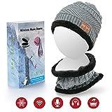 DigiHero extérieur Bluetooth Bonnet Chapeau w/Casque avec écouteurs stéréo Micphone et Appel Mains Libres pour Course Ski de Travail de Cadeau de Noël