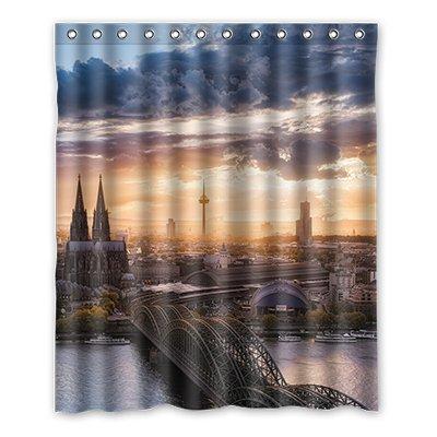 dalliy die Kathedrale von Köln Kostüm der Duschvorhang Shower Curtain 152cm x 183cm 60