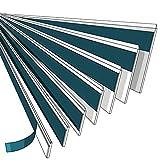NOBILY *** Fensterleiste 30mm mit Lippe / 1 Meter - 150 Meter/PVC - Fensterleisten Flachleisten Kunststoffleisten Profileleisten Abschlussleisten Zierleisten zur Fenster Montage