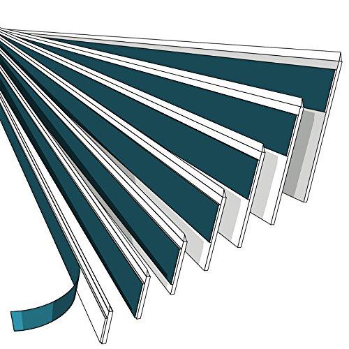 NOBILY *** Fensterleiste 60mm mit Lippe / 1 Meter - 150 Meter/PVC - Fensterleisten Flachleisten Kunststoffleisten Profileleisten Abschlussleisten Zierleisten zur Fenster Montage