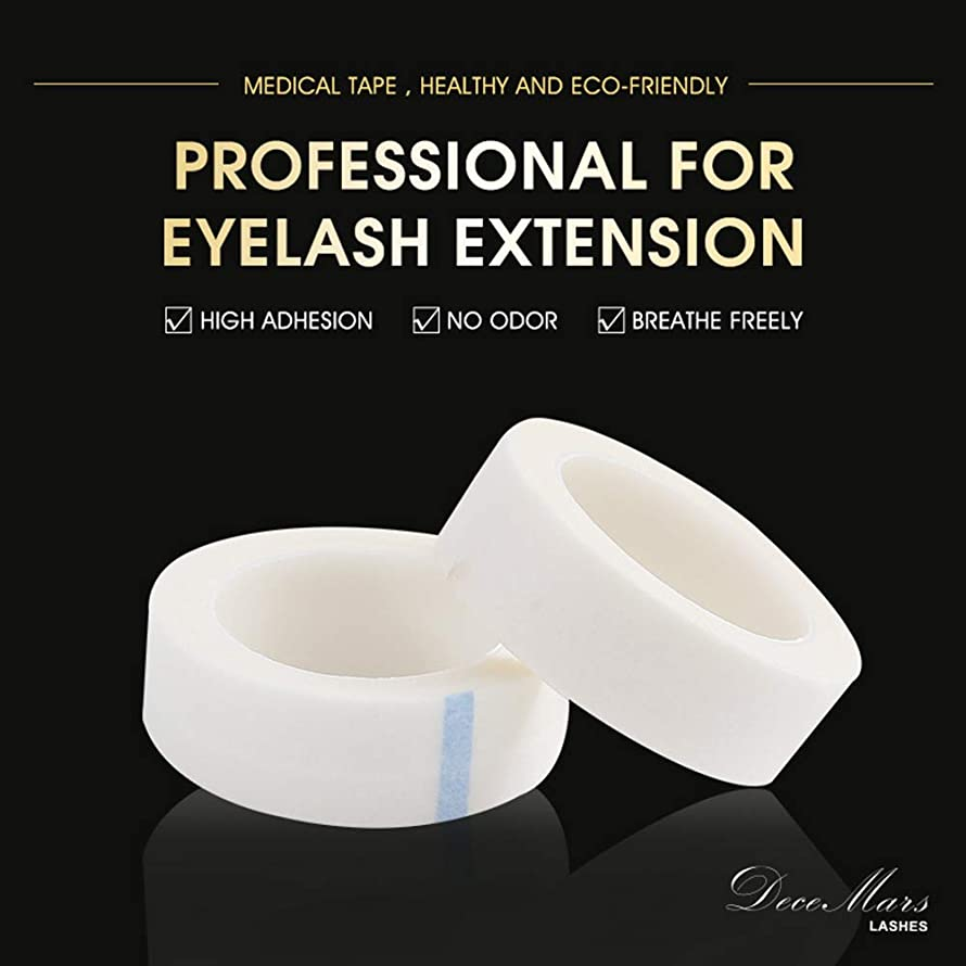 DeceMars Medical Tape Breathable Non-woven Tape for Eyelash Extension Tools to Protect Under Eyelashes(10pcs/Pack)