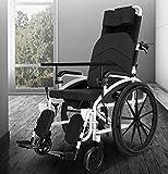 KANJJ-YU SILLASA Silla médica de rehabilitación, sillas de ruedas, sillas de ruedas plegable de elevación 24Kg Transporte Pierna de Control respaldo del asiento 150Kg La mitad de mentira soporte de ca